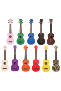 BeaverCreek BCABS Ulina Soprano Ukulele + Bag - Assorted Colours