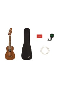 Fender Seaside Soprano Ukulele Pack - Natural Finish